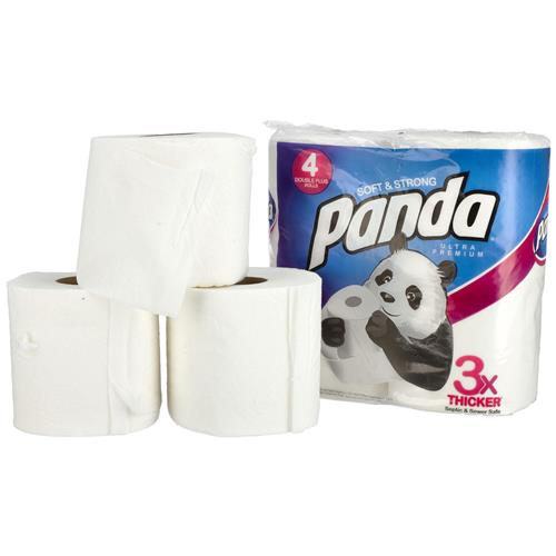 Wholesale 4pk Panda Bath Tissue 176 sheets 2 ply - Ultra Premium Image 2
