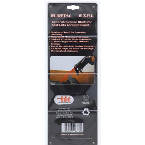 """Wholesale 5pc Bi-Metal 12"""" Reciprocating Saw Blade Image 2"""