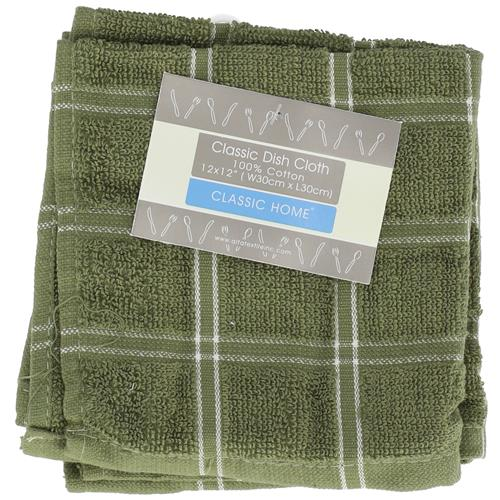"""Wholesale Heavy Dyed Dish Cloth  12"""" x 12"""" 2 Pack Assorted Colors Image 2"""