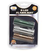 Wholesale 3 PACK 9 LED FLASHLIGHT