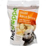 Wholesale 12ct MINI KNOT BONE PORK CHEWS