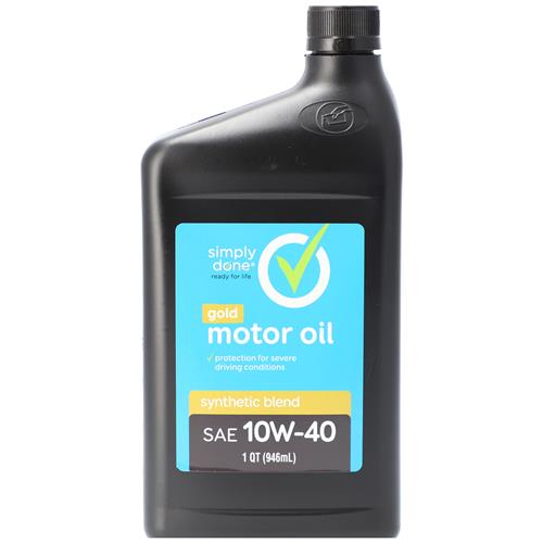 Wholesale 1QT SIMPLY DONE SYNTHETIC BLEND 10W40 MOTOR OIL