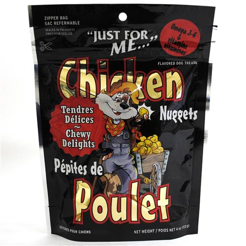 Wholesale Just for Me Dog Treat Chewy Chicken Nuggets-Canada