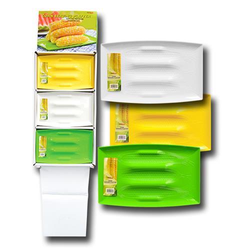 "Wholesale CORN SERVING PLATTER 13x8"" Green, White & Yellow"