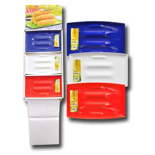 "Wholesale CORN SERVING PLATTER 13x8"" Red, White & Blue"