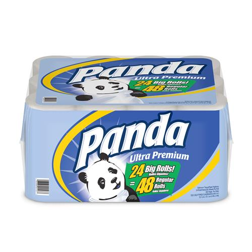 Wholesale 4pk Panda Bath Tissue 200 sheets 2 ply - Ultra Premium