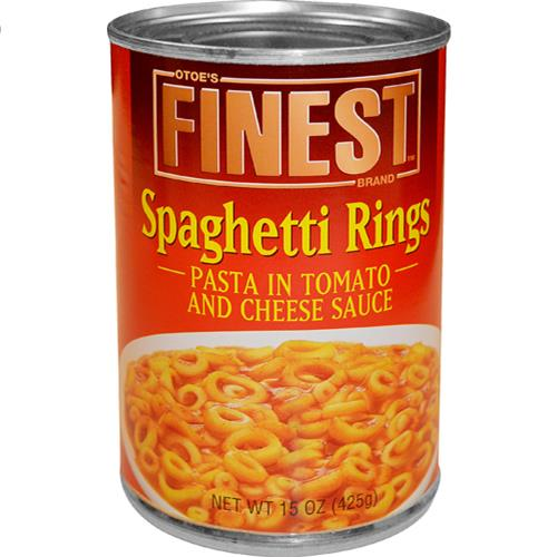 Wholesale 15OZ SPAGHETTI RINGS IN TOMATO & CHEESE SAUCE