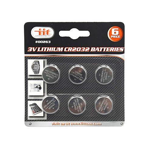Wholesale 6pc 3V LITHIUM CR2032 BATTERY