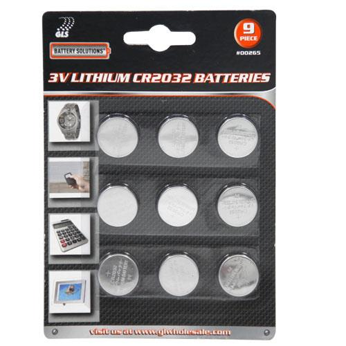 Wholesale 9pc 3V Lithium CR2032 Batteries