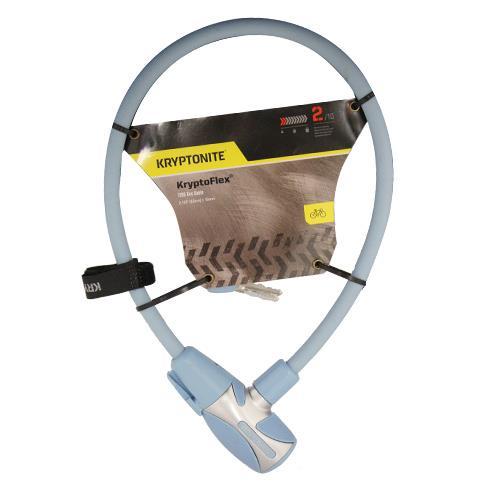Wholesale KRYPTOFLEX 1265 BIKE KEY CABLE LT BLUE 2.125' x 12MM