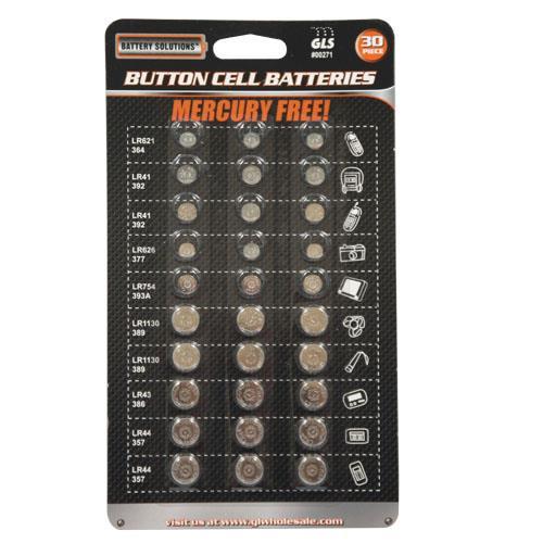 Wholesale 30 Piece Button Cell Batteries
