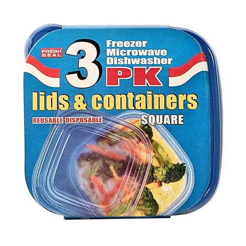 Wholesale Fresh Seal Plastic Storage Containers  w/ Lids - 2