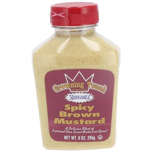 Wholesale CROWNING TOUCH SPICY BROWN MUSTARD 9OZ