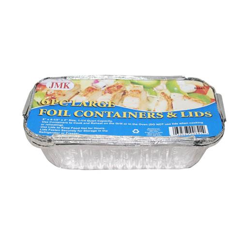 Wholesale 6PC LARGE FOIL CONTAINERS