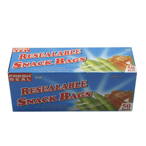 Wholesale 50PC RESEALABLE SNACK BAGS