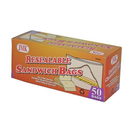 Wholesale 5PC RESEALABLE SANDWICH BAGS