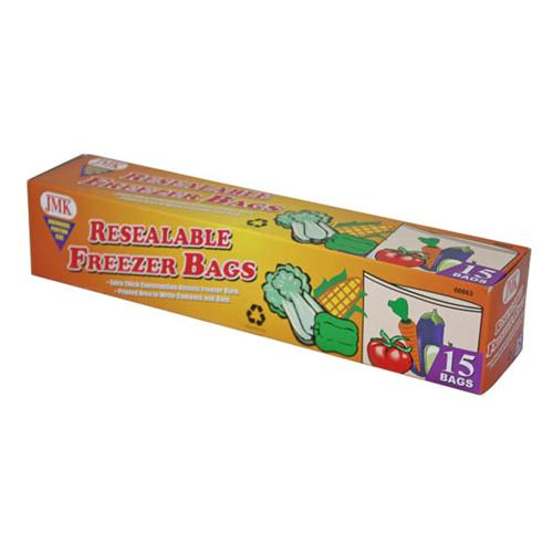 Wholesale 15PC RESEALABLE GAL FREEZER BAGS
