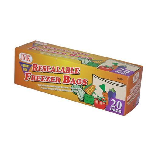 Wholesale 20PC RESEAL QT FREEZER BAGS