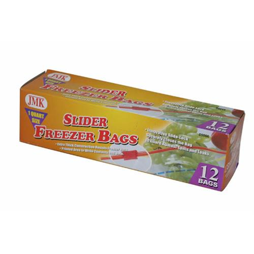 Wholesale 12PC SLIDER QT FREEZER BAGS