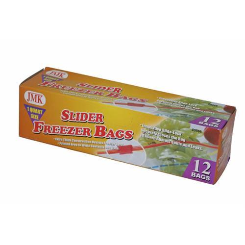 Wholesale 12PC SLIDER QT FREEZER BAGS