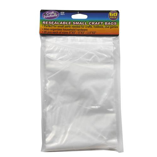Wholesale 60 Piece Resealable Small Craft Bags