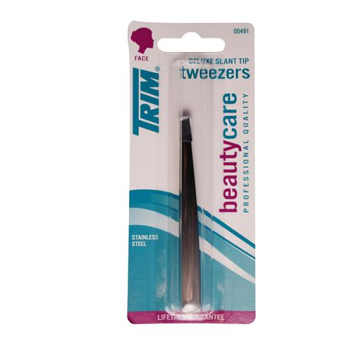 Wholesale DELUXE SLANT TIP TWEEZER STAINLESS BLACK ENAMEL TRIM