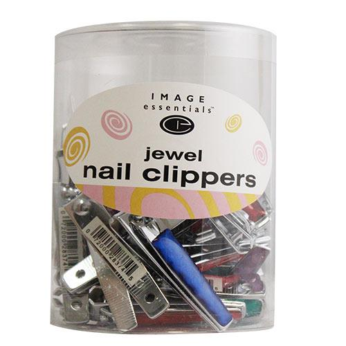 Wholesale 36CT JEWELED FINGERNAIL CLIPPERS IN DRUM 1-52DRKM