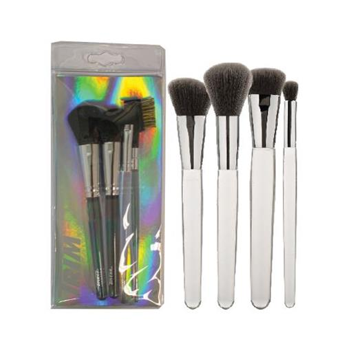 Wholesale 4PK TOTAL FACE KIT MAKEUP BRUSHES ENG/FR/SP