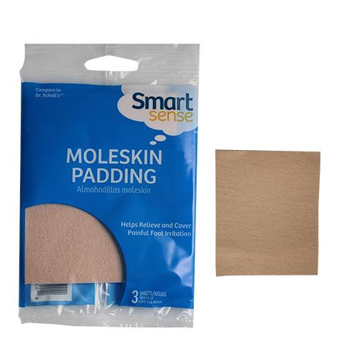 Wholesale 3PK MOLESKIN PADDING-SHEETS SMART SENSE 6-17KM