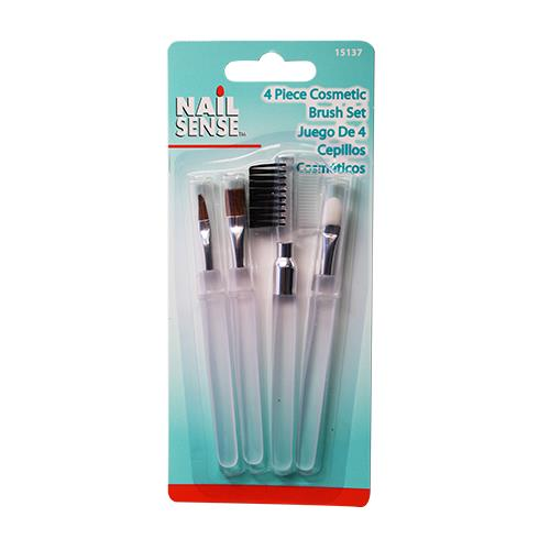 Wholesale 4pc CLEAR COSMETIC BRUSH SET N
