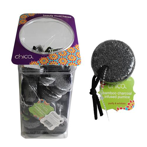 Wholesale 30CT BAMBOO CHARCOAL INFUSE PUMICE ON A ROPE