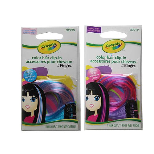 Wholesale CRAYOLA COLOR HAIR CLIP IN 2 ASSORTED ENG/FR