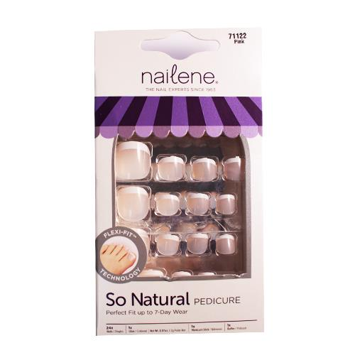 Wholesale 24CT SO NATRUAL PEDICURE KIT PINK FRENCH NAILS