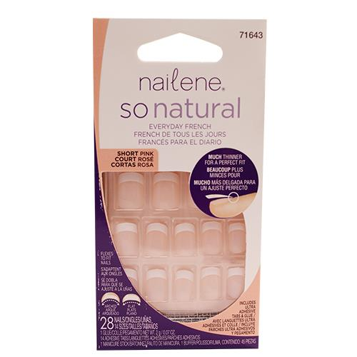 Wholesale SO NATURAL FRENCH NAIL KIT -SHORT PINK
