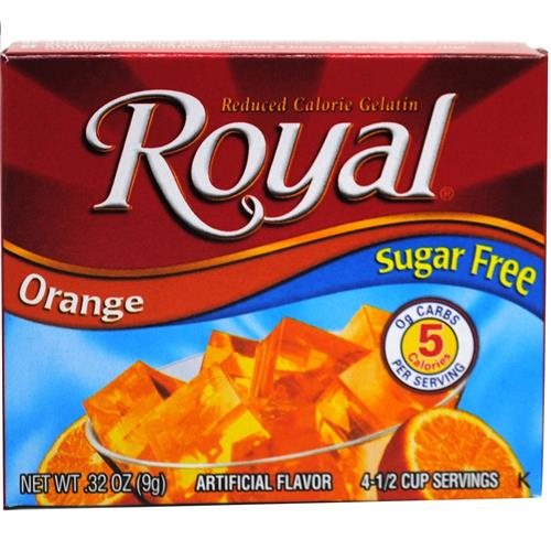 Wholesale Royal Sugar Free Gelatin Orange