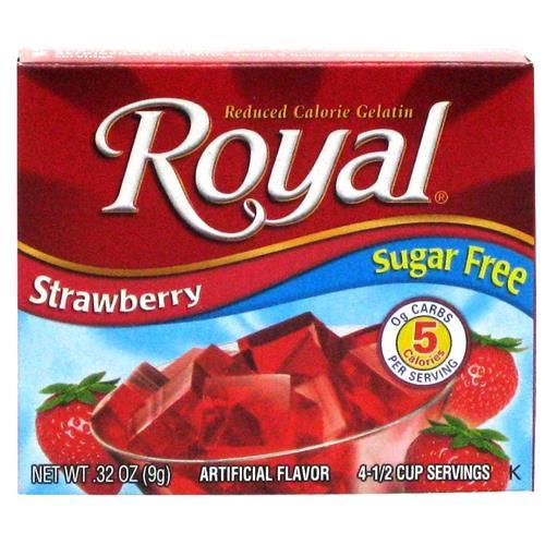 Wholesale Royal Sugar Free Gelatin Strawberry