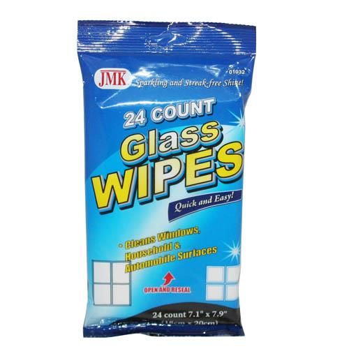 Wholesale 24 COUNT GLASS WIPES