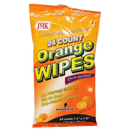 Wholesale 24 COUNT ORANGE WIPES