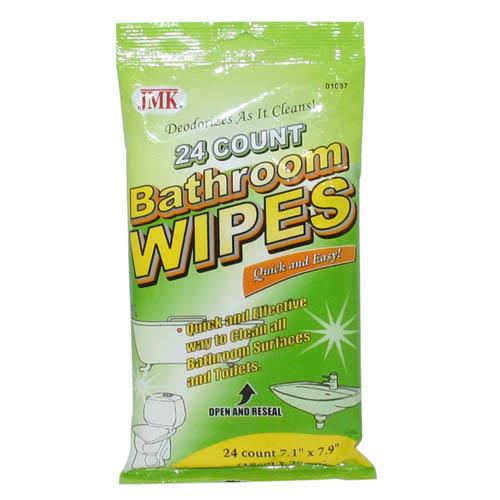 Wholesale 24 COUNT BATHROOM WIPES