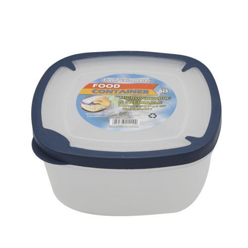 Wholesale Food Storage Container with Rubber Trim Lids 71 oz GLW