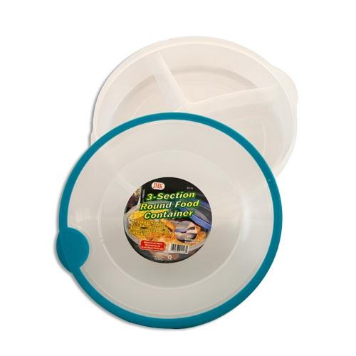 Wholesale 3-SECTION ROUND FOOD CONTAINER