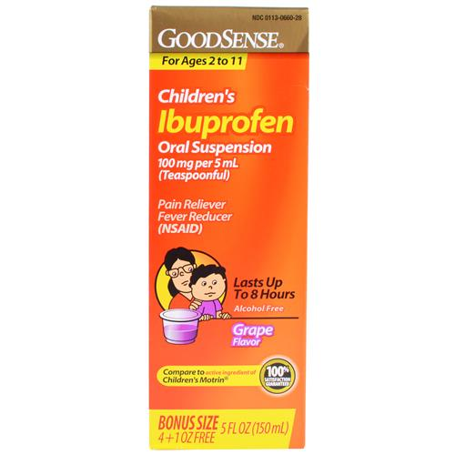 Wholesale Good Sense Children's Ibuprofen Susp Grape (Motrin