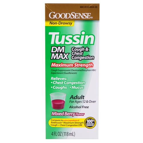 Wholesale Good Sense Tussin DM Max Mixed Berry (Robitussin DM Max) Exp 5/15