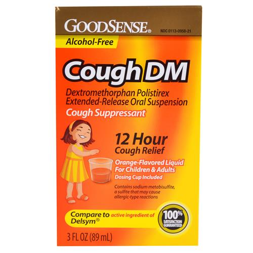 Wholesale Good Sense Cough DM 12 HR Release Suspension (Delsym DM) Exp 1/15