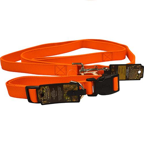 "Wholesale 6' HI-VIS ORANGE LEAD & COLLAR 1x18-26"" LARGE DOGS"