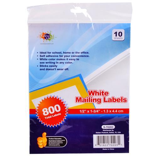 Wholesale kaizen white mailing labels 1 2quotquotquotquot x 1 3 4 for 2 x 3 mailing labels