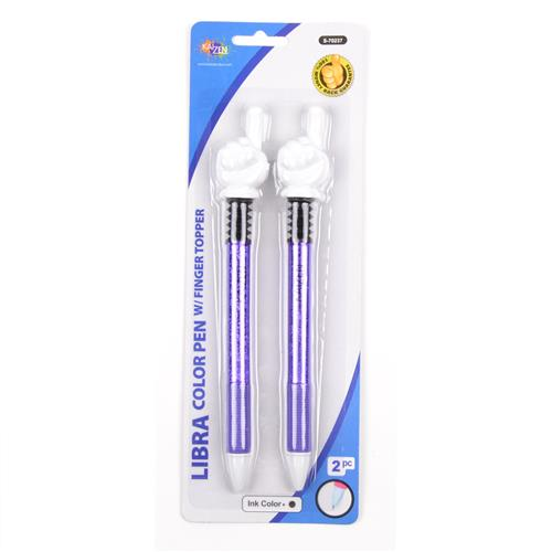 Wholesale Pen with Pointing Finger Topper Assorted