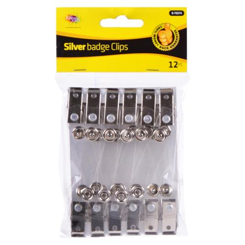 Wholesale Kaizen Silver Name Badge Clips
