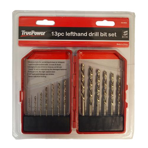 Wholesale 13pc LEFT HANDED DRILL BITS IN