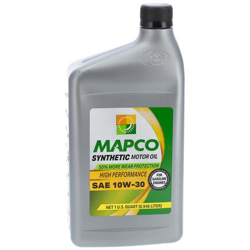 Wholesale 1QT MAPCO 10W-30 FULL SYNTHETIC MOTOR OIL
